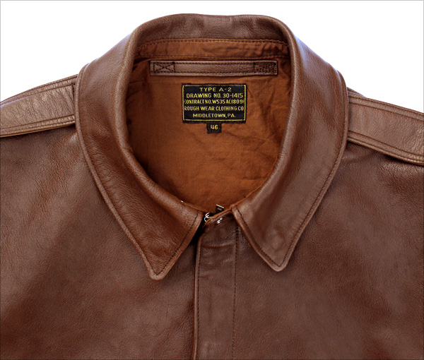 Good Wear reproduction Collar based on the Rough Wear W535-ac-18091 A-2 contract of WWII