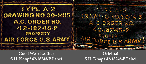 Good Wear Leather's No-Name 42-18246-P Label