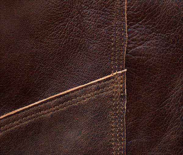 Good Wear Leather's Type A-1 Sleeve Seams