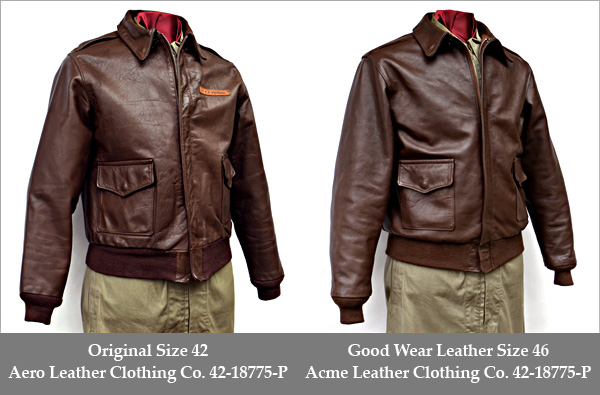 Good Wear Leather 42-18775-P Type A-2 Jacket Comparison