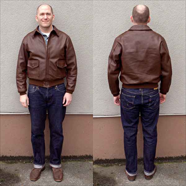 Good Wear Leather 42-18775-P Type A-2 Jacket Full View