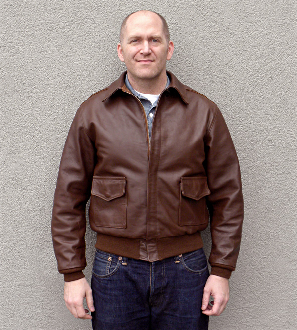 Good Wear Leather 42-18775-P Type A-2 Jacket Front View