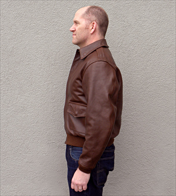 Good Wear Leather 42-18775-P Type A-2 Jacket Side View