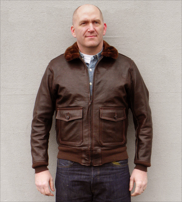 Good Wear Leather Bogen & Tenenbaum AN-6552 Jacket Front View