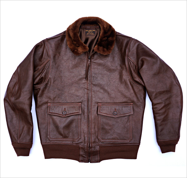 Good Wear Leather Bogen & Tenenbaum AN-6552 Jacket Front View Flat