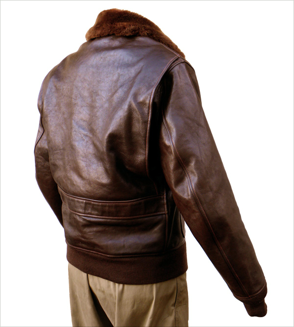 Good Wear Leather Bogen & Tenenbaum AN-6552 Jacket Reverse View