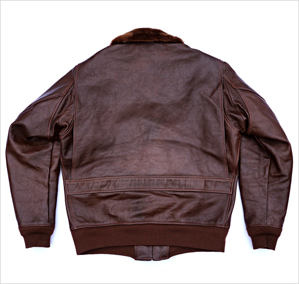 Good Wear Leather Bogen & Tenenbaum AN-6552 Jacket Reverse View Flat