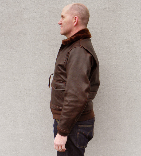 Good Wear Leather Bogen & Tenenbaum AN-6552 Jacket Side View