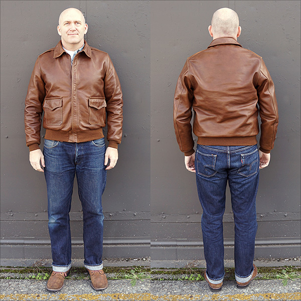 Good Wear Leather's Bronco MFG. Co. Type A-2 Full View