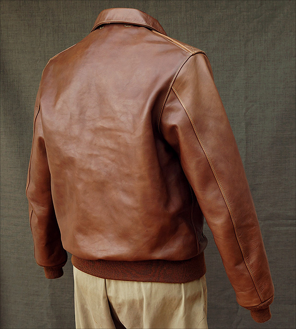 Good Wear Leather's Bronco MFG. Co. Type A-2 Reverse View