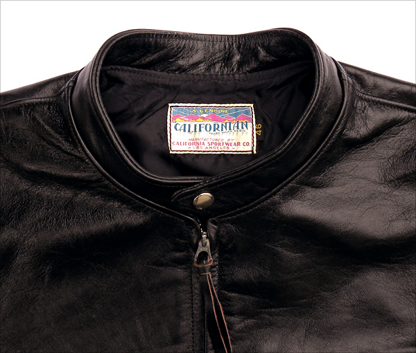 California Sportwear Racer Jacket Collar
