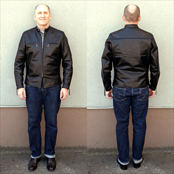 California Sportwear Racer Jacket Front and Back Full