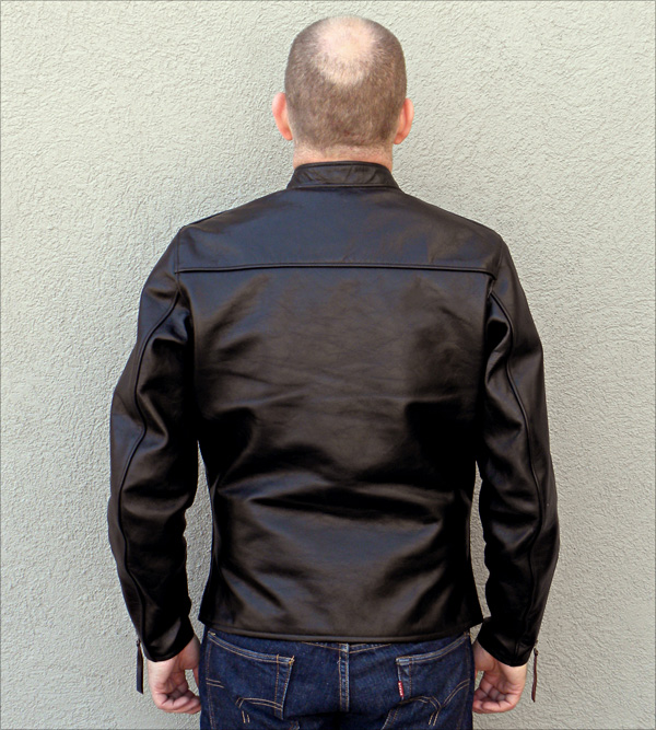California Sportwear Racer Jacket Reverse View