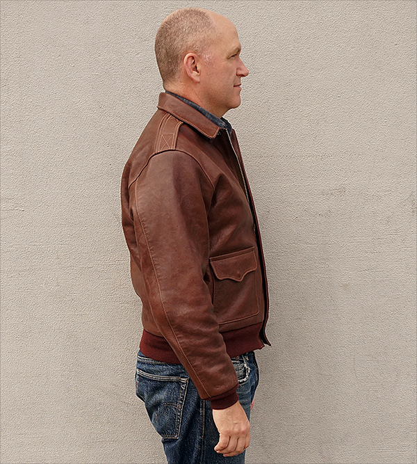 Good Wear Leather's J.A. Dubow Type A-2 Flight Jacket Front View