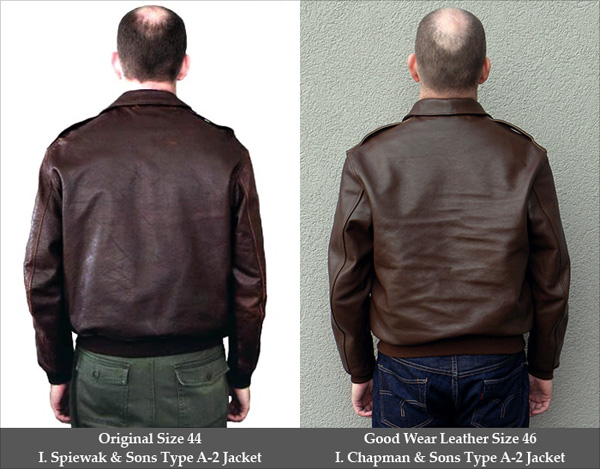 Good Wear Leather I. Chapman & Sons Type A-2 Comparison