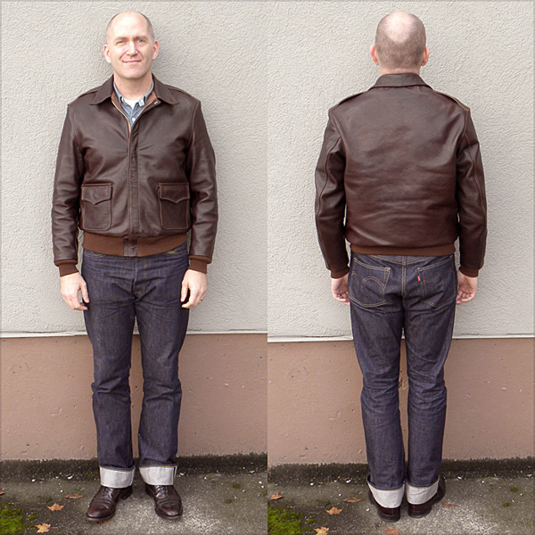 Good Wear Leather I. Chapman & Sons Type A-2 Jacket Full View
