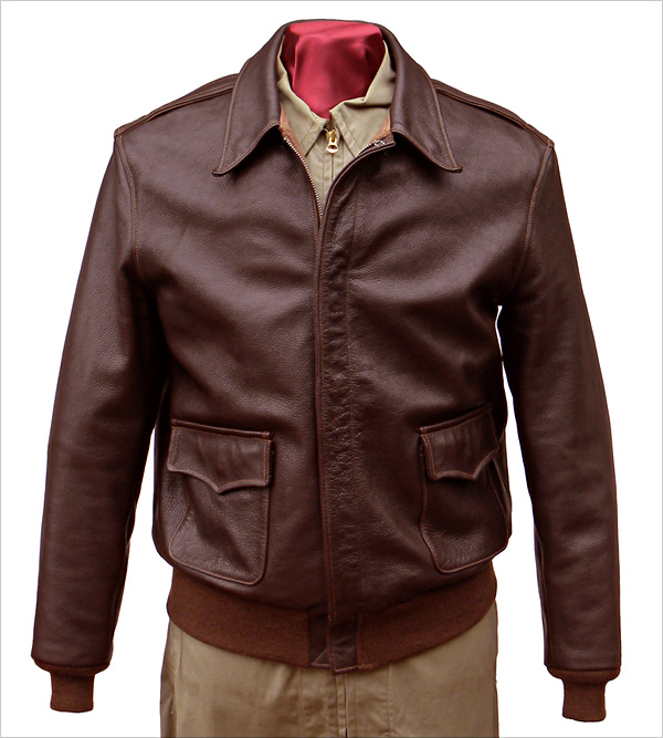 Good Wear Leather I. Chapman & Sons Type A-2 Jacket Front View