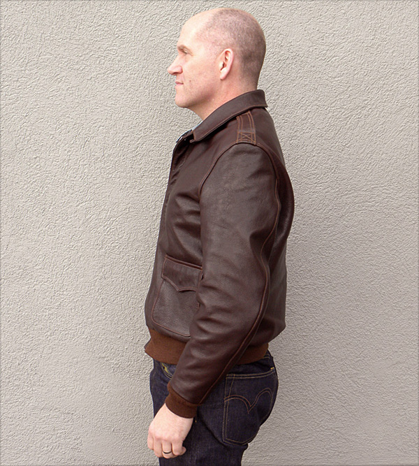 Good Wear Leather I. Chapman & Sons Type A-2 Jacket Side View