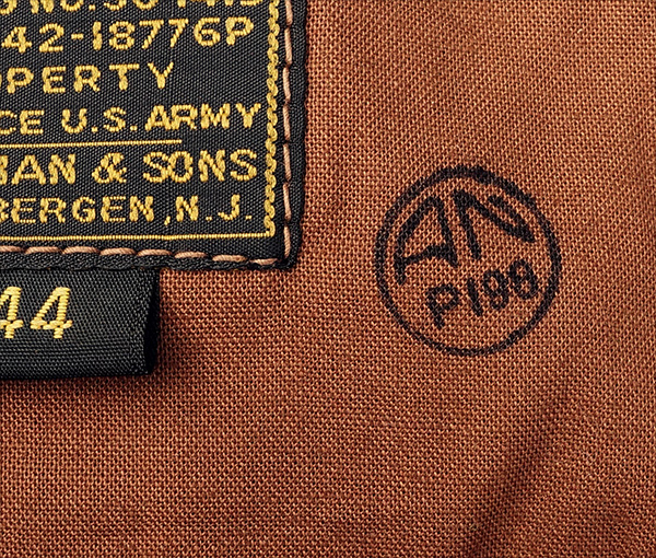 Good Wear Leather I. Chapman & Sons Type A-2 Jacket Label