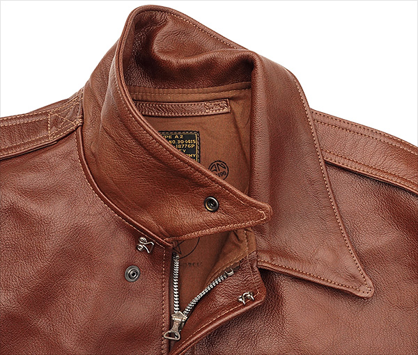 Good Wear Leather I. Chapman & Sons Type A-2 Jacket Collar