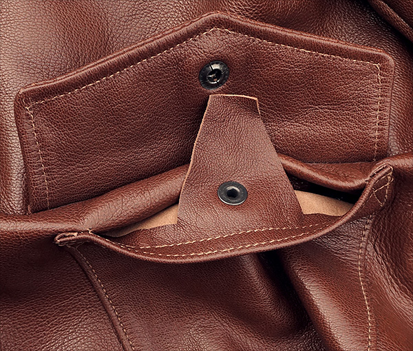 Good Wear Leather I. Chapman & Sons Type A-2 Jacket Pocket Interior