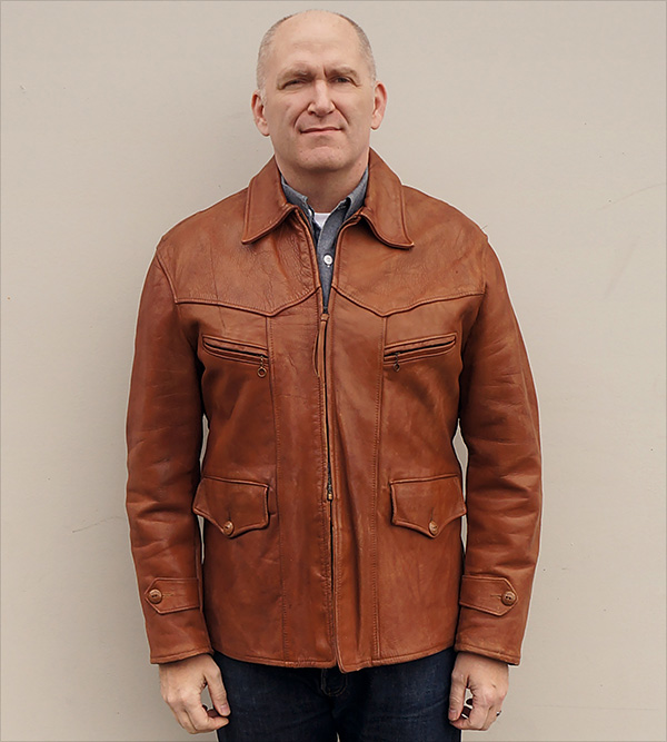 Vintage Horsehide Car Coat from WWII 1940s