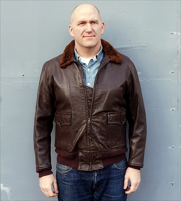 Original Gordon & Ferugson Navy jacket sold by Good Wear Leather