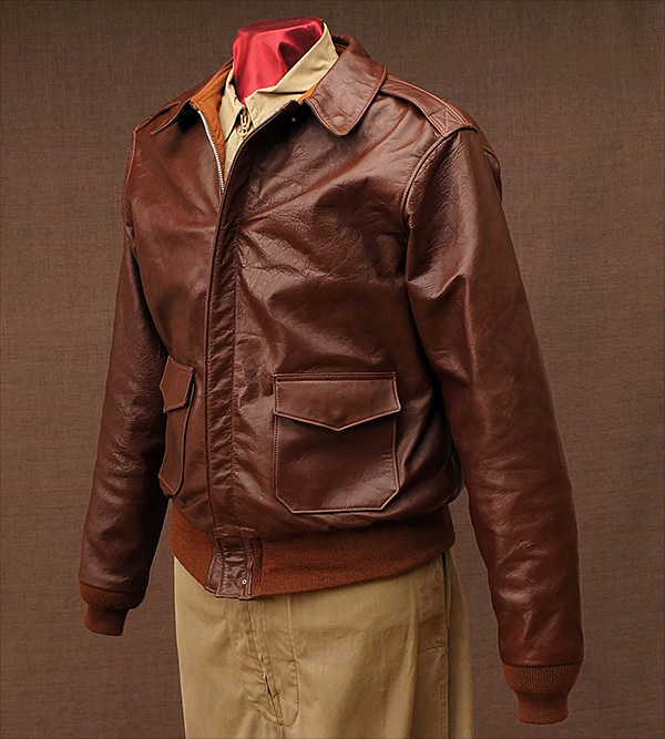 Good Wear H.L.B. Corp. Type A-2 Jacket Front Quarter Horsehide