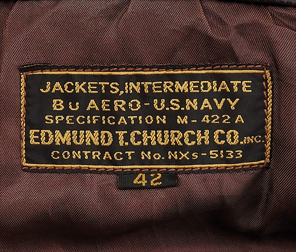 Original U.S. Navy Edmund T. Church M-422A1 Flight Jacket WWII