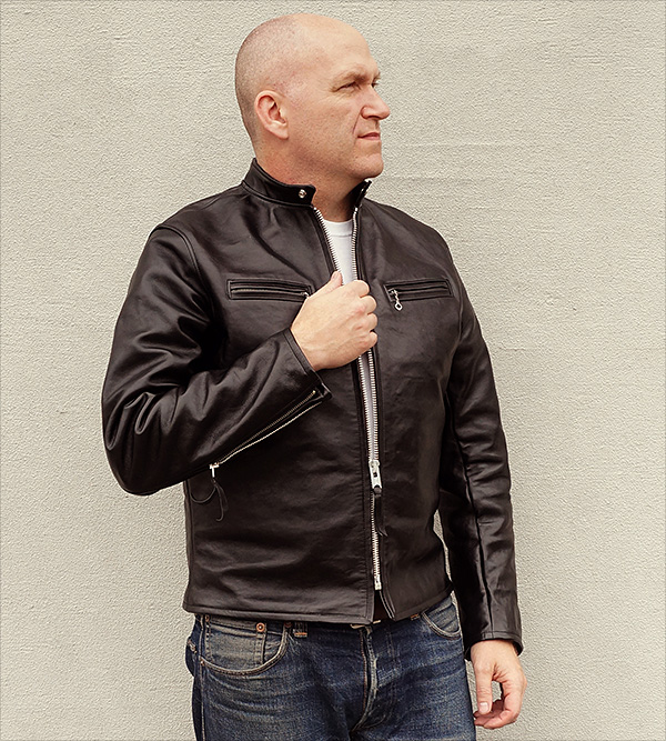 Horsehide Cafe Racer Jacket by Good Wear Leather