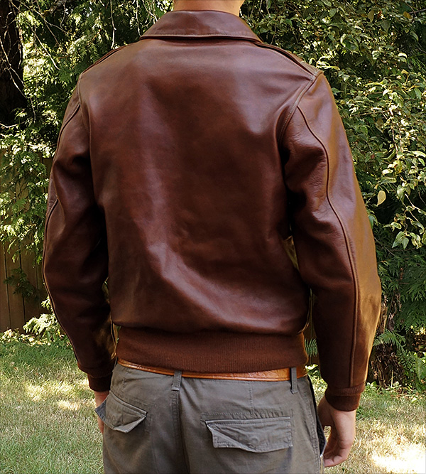 Rough Wear W535-AC-23380 Type A-2 Flight Jacket by Good Wear Leather