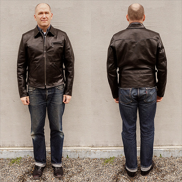 Good Wear Ventura by Himel Bros. Shinki Horsehide Half Belt Leather Jacket