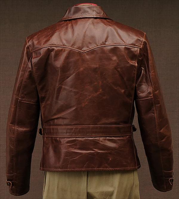 horsehide halfbelt jacket
