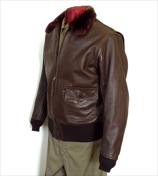 Good Wear Leather Monarch Mfg. Co. M-422 Jacket Front View