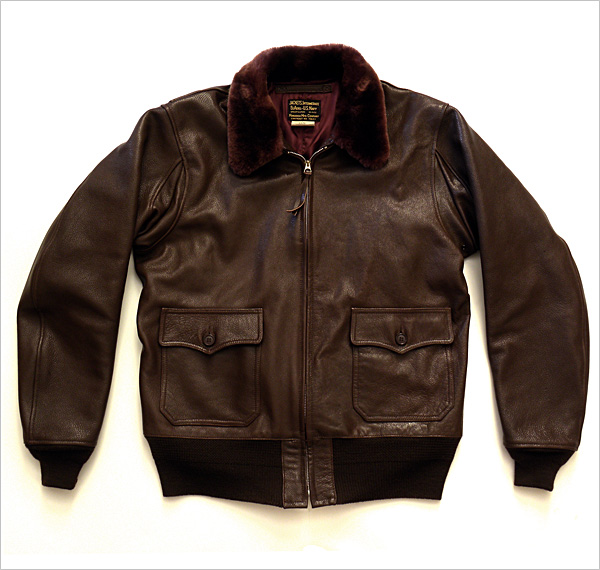 Good Wear Leather Monarch Mfg. Co. M-422 Jacket Front View Flat