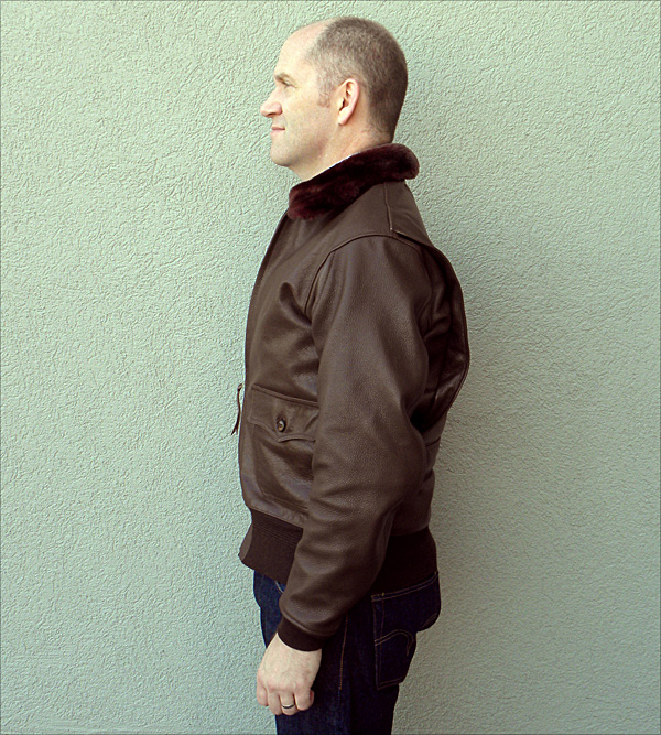 Good Wear Leather Monarch Mfg. Co. M-422 Jacket Side View