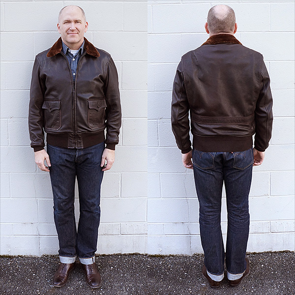 Good Wear Leather Monarch Mfg. Co. M-422 Jacket Front and Back Full