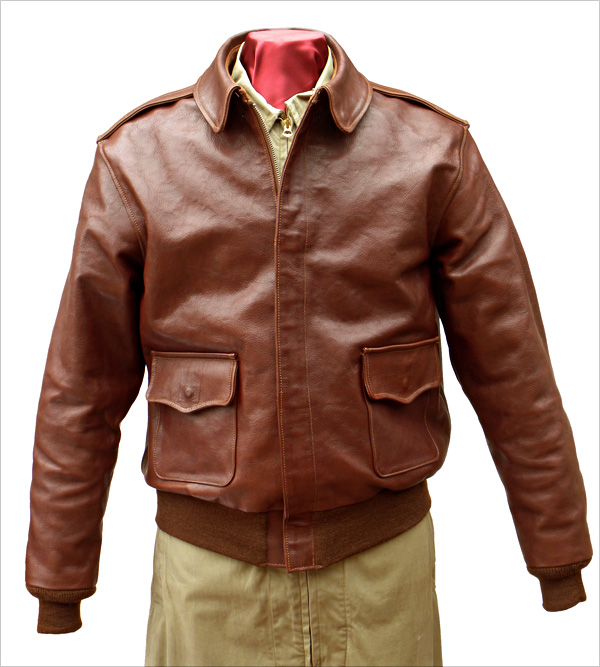 Good Wear Leather Perry Sportswear Type A-2 Front View
