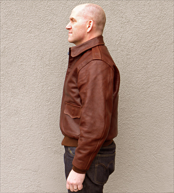 Good Wear Leather Perry Sportswear Type A-2 Side View