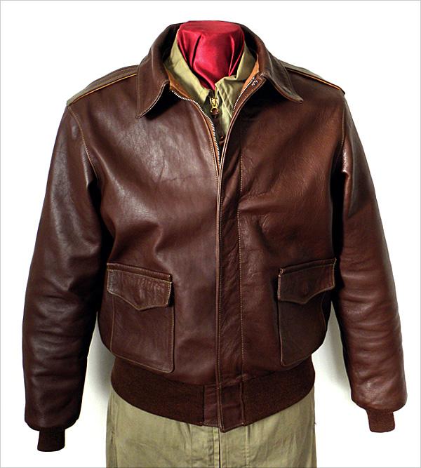 Type a-2 leather flight jacket