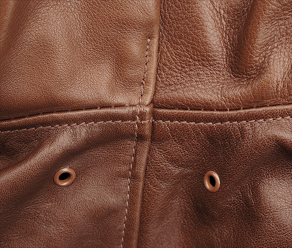 Good Wear Leather Rough Wear 42-1401-P Type A-2 Jacket Seams