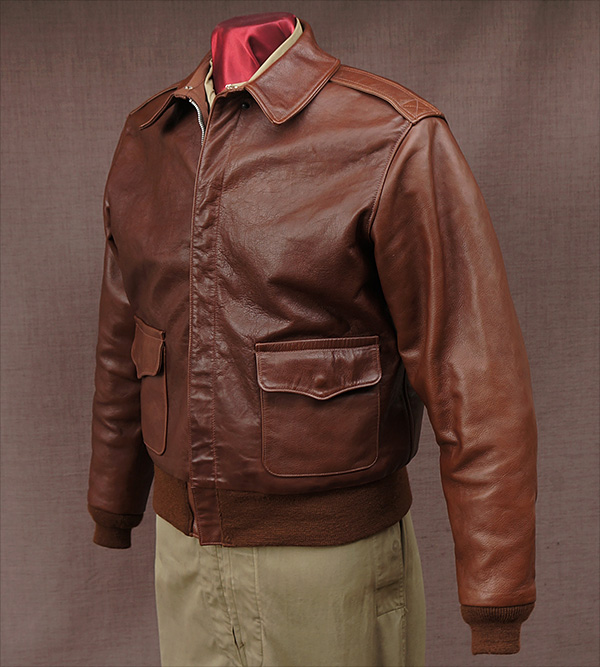 Good Wear Leather Rough Wear 42-1401-P Type A-2 Jacket Front View