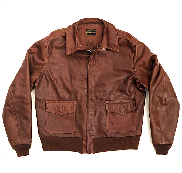 Good Wear Leather Rough Wear 42-1401-P Type A-2 Jacket Front View Flat