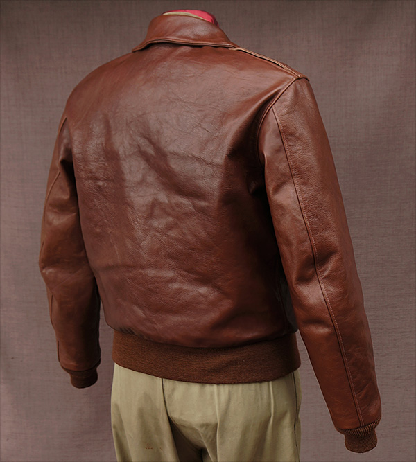 Good Wear Leather Rough Wear 42-1401-P Type A-2 Jacket Reverse View