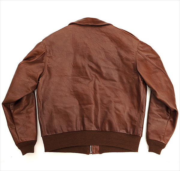 Good Wear Leather Rough Wear 42-1401-P Type A-2 Jacket Reverse View Flat