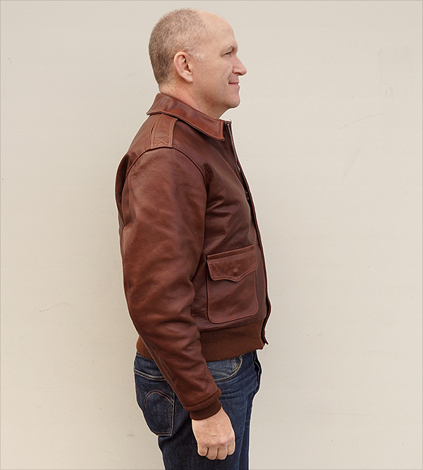 Good Wear Leather Rough Wear 42-1401-P Type A-2 Jacket Side View