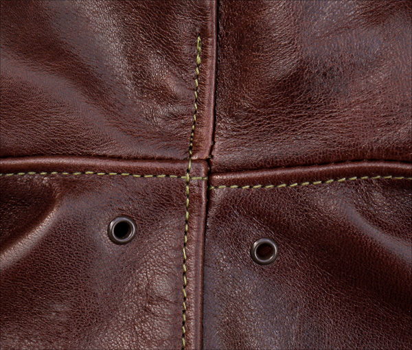 Good Wear Leather's Rough Wear Type A-2 Arm Seams