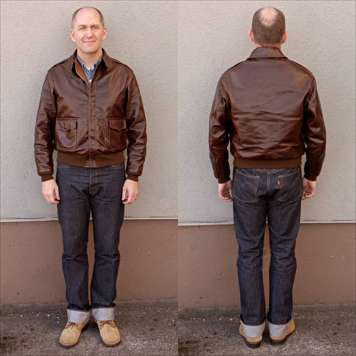 Good Wear Leather's Rough Wear Type A-2 Full View
