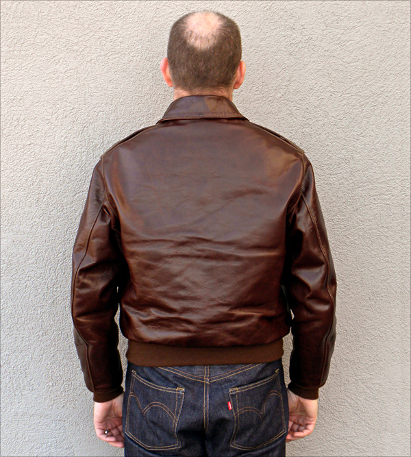 Good Wear Leather's Rough Wear Type A-2 Reverse View