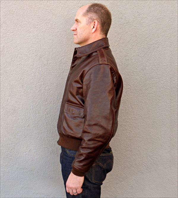 Good Wear Leather's Rough Wear Type A-2 Side View